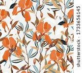 seamless vector floral pattern. ...   Shutterstock .eps vector #1733656145