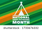 national great outdoors month.... | Shutterstock .eps vector #1733676332