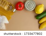 Stock Of Food. A Set Of...
