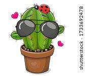 Cute Cartoon Cactus With...
