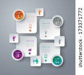 abstract 3d digital... | Shutterstock .eps vector #173371772