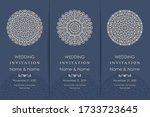 wedding invitation cards... | Shutterstock .eps vector #1733723645