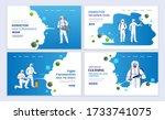 medical workers in hazmat suits ... | Shutterstock .eps vector #1733741075