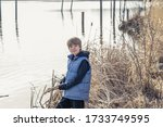 portrait of a teen boy in front ... | Shutterstock . vector #1733749595