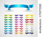 colorful ribbons set | Shutterstock .eps vector #173375282