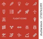 editable 22 flight icons for... | Shutterstock .eps vector #1733761355