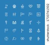 editable 25 flag icons for web...
