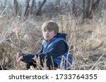 portrait of a teen boy with... | Shutterstock . vector #1733764355