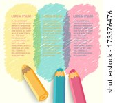 speech bubbles with pencils.... | Shutterstock .eps vector #173376476