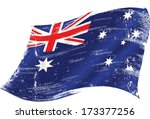 flag of australia in the wind... | Shutterstock .eps vector #173377256