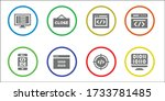 modern simple set of script...   Shutterstock .eps vector #1733781485