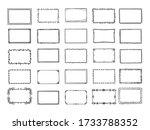 doodle frames. sketched hand... | Shutterstock .eps vector #1733788352