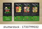 chalk drawing vegetarian menu... | Shutterstock .eps vector #1733799032