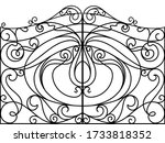 Wrought Iron Gate  Door  Fence. ...