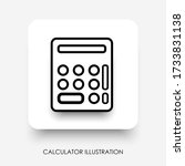 modern calculator button with...