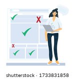 myths and facts vector... | Shutterstock .eps vector #1733831858