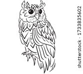 Owl Graphic Design Vector...