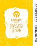 charity is not about pity  it... | Shutterstock .eps vector #1733838302