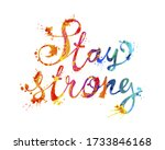 stay strong. vector inscription ... | Shutterstock .eps vector #1733846168