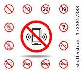forbidden phone call icon. set...