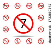 forbidden 7 age icon. set can...
