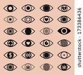 vector icons set. different eye ... | Shutterstock .eps vector #173386436
