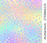 holographic leopard print on... | Shutterstock . vector #1733866115