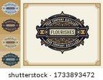 luxury logo template flourishes ...   Shutterstock .eps vector #1733893472