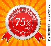 special discount 75  off. | Shutterstock .eps vector #173390432