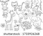 Outline Wild Safari Animals...