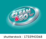 clean and go logo. sanitizer... | Shutterstock .eps vector #1733943368