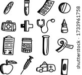 a set of medical icons template ... | Shutterstock .eps vector #1733961758