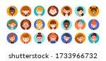 teens and kids avatar... | Shutterstock .eps vector #1733966732