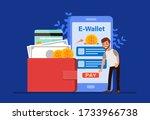 e wallet concept  people... | Shutterstock .eps vector #1733966738