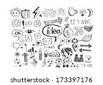 hand doodle business  | Shutterstock .eps vector #173397176