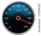 speedometer on white background ... | Shutterstock .eps vector #173399132