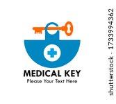 medical key logo design...   Shutterstock .eps vector #1733994362
