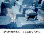 Japanese Grave Yard Tomb Stone