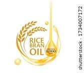 rice bran oil. vector...   Shutterstock .eps vector #1734007172