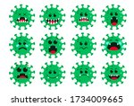 covid19 coronavirus icon green... | Shutterstock .eps vector #1734009665