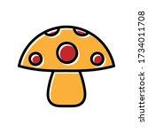 mushroom hand drawn icon vector ...