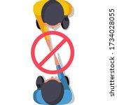 do not contact. no handshake.... | Shutterstock .eps vector #1734028055