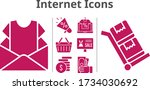 internet icons set. included...