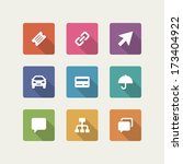 web site vector icons set... | Shutterstock .eps vector #173404922