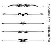 vector set of decorative... | Shutterstock .eps vector #1734089042