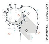 psychology related color line... | Shutterstock .eps vector #1734092645