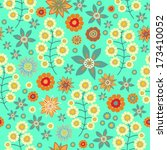 seamless  floral vector pattern ... | Shutterstock .eps vector #173410052