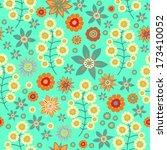 seamless  floral vector pattern ... | Shutterstock .eps vector #173410052
