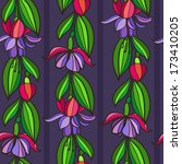 pattern with flowers | Shutterstock .eps vector #173410205