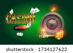 the word gold casino surrounded ... | Shutterstock .eps vector #1734127622